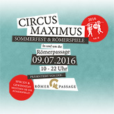 CIRCUS MAXIMUS 2016-Musikmaschine-Römerpassage-Mainz-Flyer