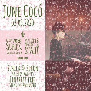 Klein-Aber-Schick-Immer-Montags-schick-und-schön-Mainz-Musikmaschine-Events-Veranstaltungen-Konzerte-Band-Bands-Buchen-Party-Feiern-Donnerstag-special-june-coco