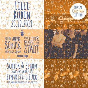 Klein-Aber-Schick-Immer-Montags-schick-und-schön-Mainz-Musikmaschine-Events-Veranstaltungen-Konzerte-Band-Bands-Buchen-Party-Feiern-Donnerstag-special-x-mas-lilli-rubin